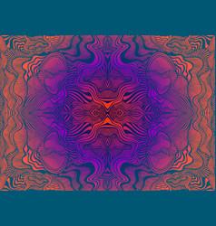 Bright psychedelic trippy fractal mandala vector