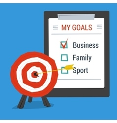 Business concept personal goals vector