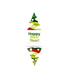 Christmas geometric abstract sale promo banner vector image