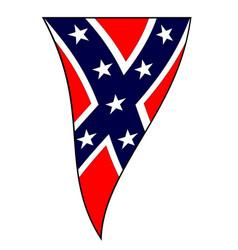 civil war confederate flag as waving bunting vector image