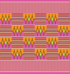 Cloth kente seamless pattern vector