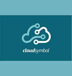 Cloud company logo symbol android vector
