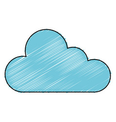 Cloud computing server icon vector