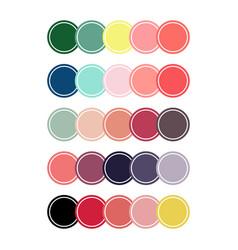 Coral color set circles vector