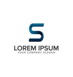 creative modrn letter s logo design concept vector image