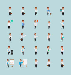 Creatively designed office character vector