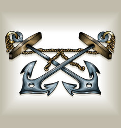 Crossed anchors vector