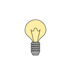 Electricity flat icon Lightbulb vector image