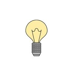 Electricity flat icon lightbulb vector