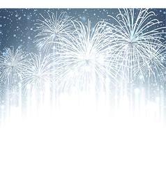 Festive xmas firework background vector image
