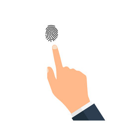 Fingerprint icon identification isolated on white vector