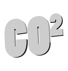 Formula of carbon dioxide icon monochrome style vector