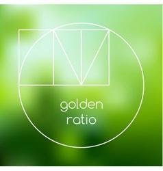Golden ratio line graphic vector
