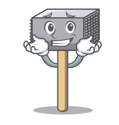 Grinning hammer cartoon for tenderizer the meat vector
