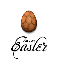 happy easter egg in form a handball ball vector image