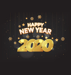 happy new year 2020 numbers typography greeting vector image