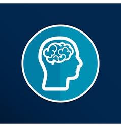 Head brain icon think design over vector image