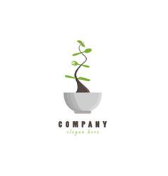 healthy kitchen logo vector image