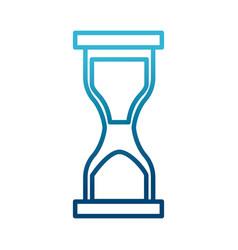 hourglass sandtime isolated vector image