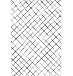 ink hand drawn abstract rhombus pattern on vector image
