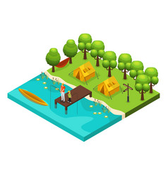 Isometric weekend recreation concept vector