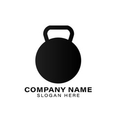 Kettlebell dumbbell iron weight fitness and gym vector