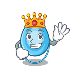 king oxygen mask mascot cartoon vector image