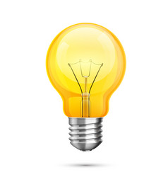 lamp idea icon object yellow light white vector image