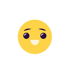 laughing emoticon - comic face vector image