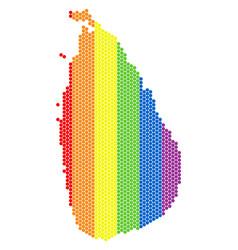 lgbt spectrum pixel sri lanka island map vector image