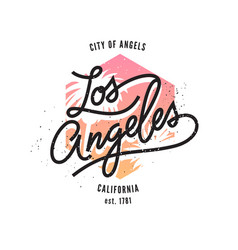 Los angeles typographic print vector