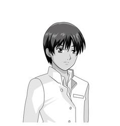 Manga anime young man vector