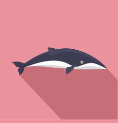 Minke whale icon flat style vector