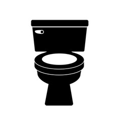 monochrome silhouette of toilet front view vector image