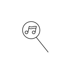 music search icon vector image