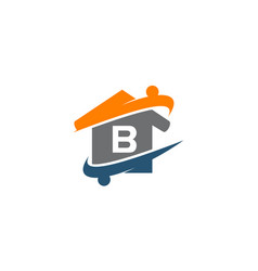 Parenting life home care initial b vector