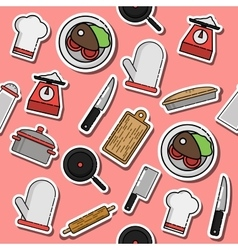 Pattern of Kitchen vector image
