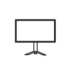 pc monitor icon vector image
