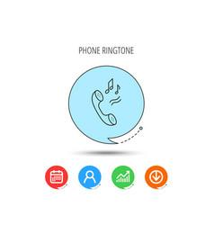 Phone icon call ringtone sign vector