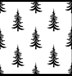 pine tree pattern simple of pine vector image