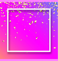 pink festive background with gold confetti vector image