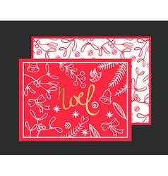 Postcard Noel vector