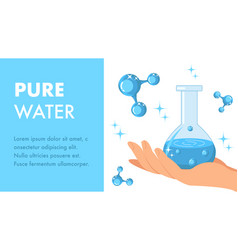 pure water web banner template with text space vector image
