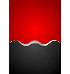 Red black contrast background with metal wave vector