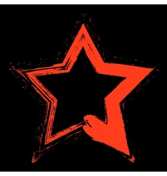 Red Star Grunge vector