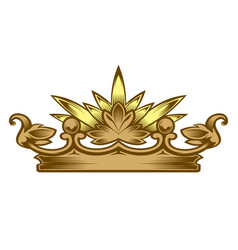 Royal attribute golden crown vector