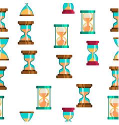sandclock icon set seamless pattern vector image