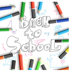 School time poster vector