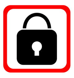 security icon flat design vector image