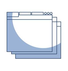Shadow web window vector